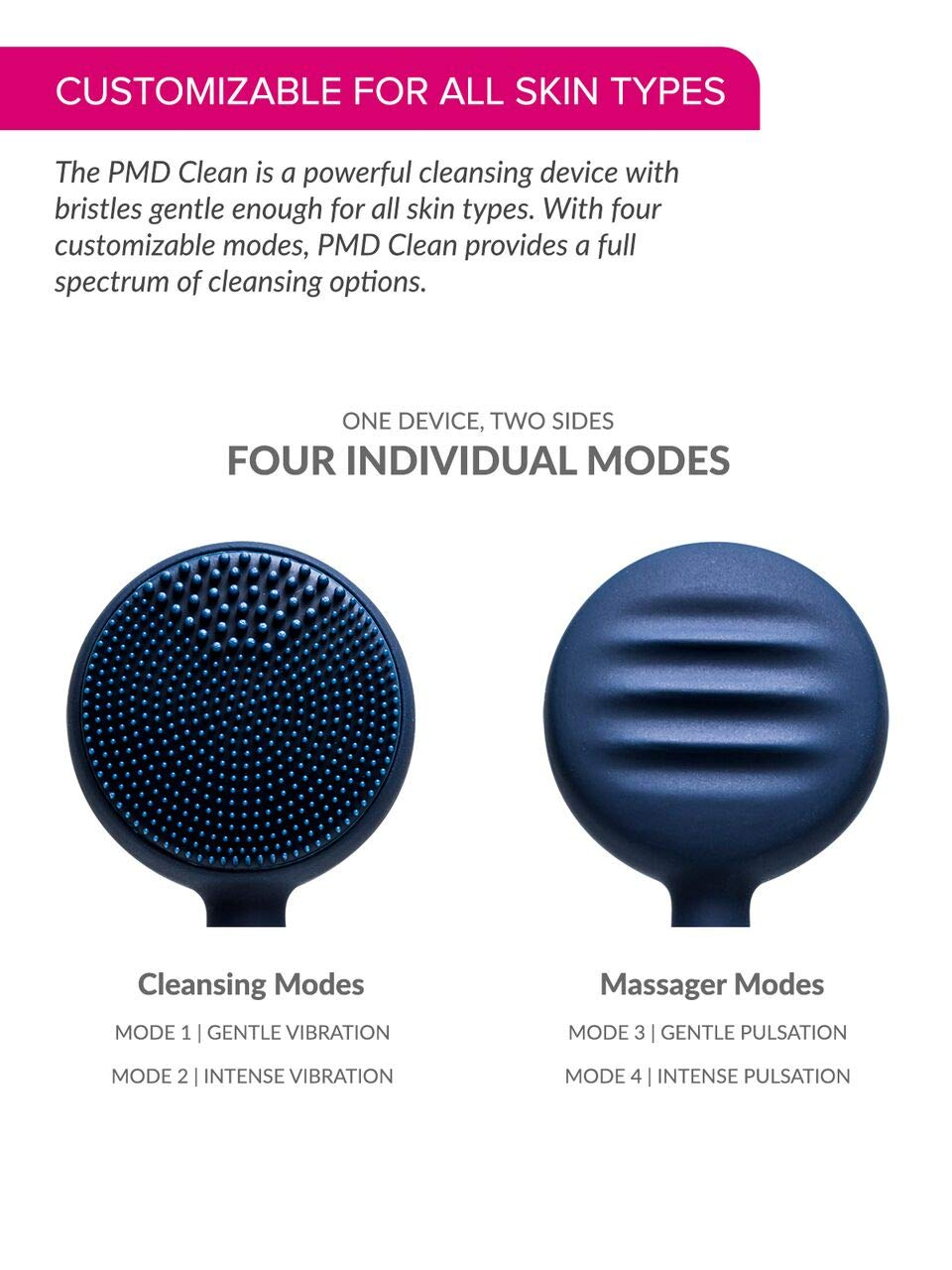 PMD Clean | Smart Facial Cleansing Brush and Face Massager Device for Youthful Skin | Navy with Gold by PMD Personal Microderm (Image #5)
