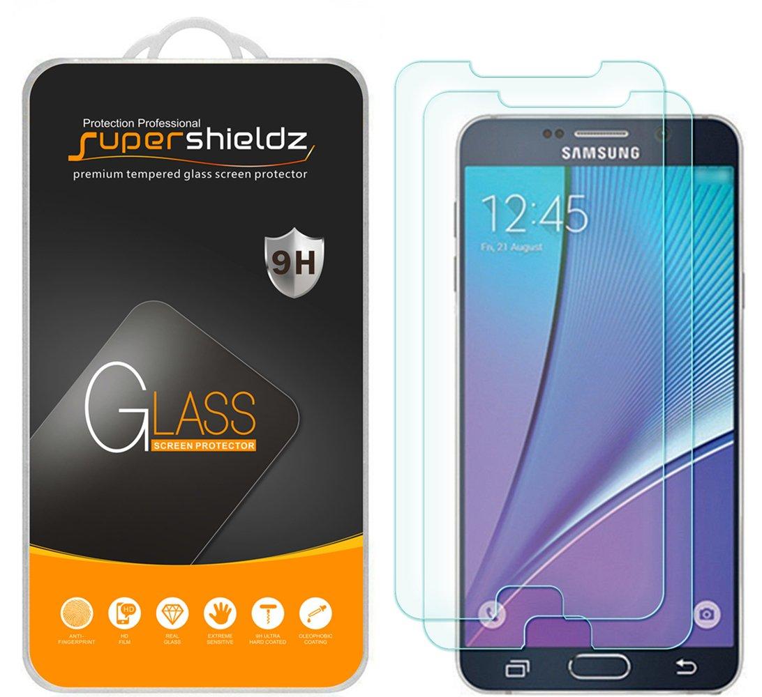 Vidrio templado para Samsung Note 5 [2un] SUPERSHIELDZ (6XGS