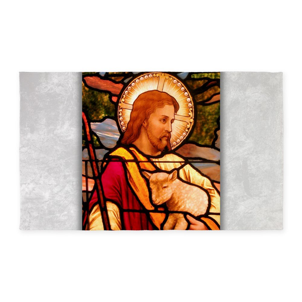 3' x 5' Area Rug Jesus Christ Lamb Stained Glass by Royal Lion