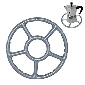 TOME Alloy Multi-Function Gas Ring Reducer Trivet Stove Top Hob Cooker Heat Simmer Coffee Pots 15cm