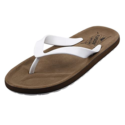 d80a9c7503a8 FLIPSIDE Men s Woodland Brown Flip Flops Thong Sandals  Buy Online at Low  Prices in India - Amazon.in