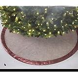 "Jaclyn Smith Golden Radiance Golden Radiance 52"" Christmas Tree Skirt - Brown & Gold"