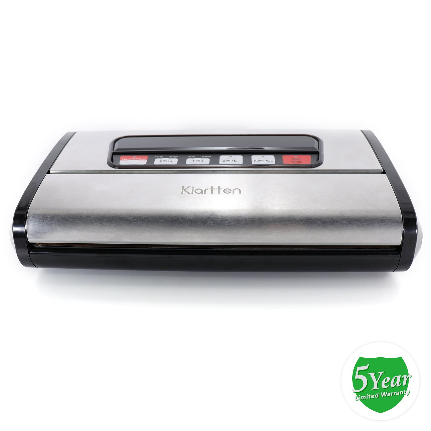 Kiartten Vacuum Sealer, A Fresh Food Locker for Your Kitchen. Keeps Food Fresh Up To 5X Longer. (Stainless Steel) by Spreaze (Image #7)