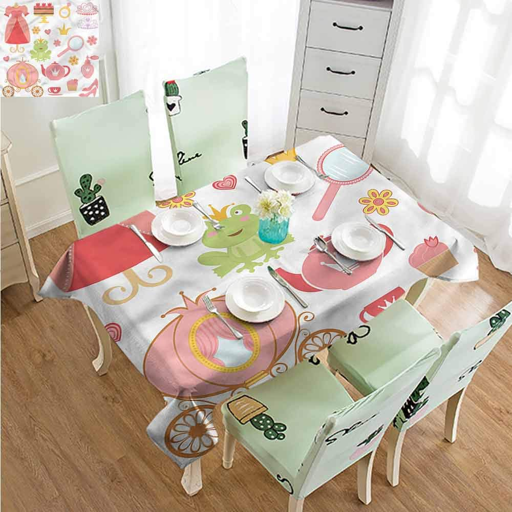 SLLART Table Cloth for Outdoor Kids,Princess Tiara Tea Party W52 xL70,for Party