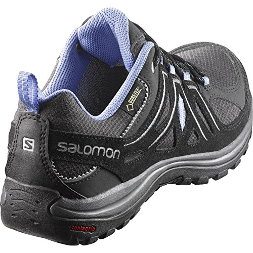Salomon Ladies Ellipse 2 Gtx W Scarpe Da Trekking E Da Trekking, Nero, 36,5 Eu Grigio (asfalto / Nero / Blu Petunia 000)