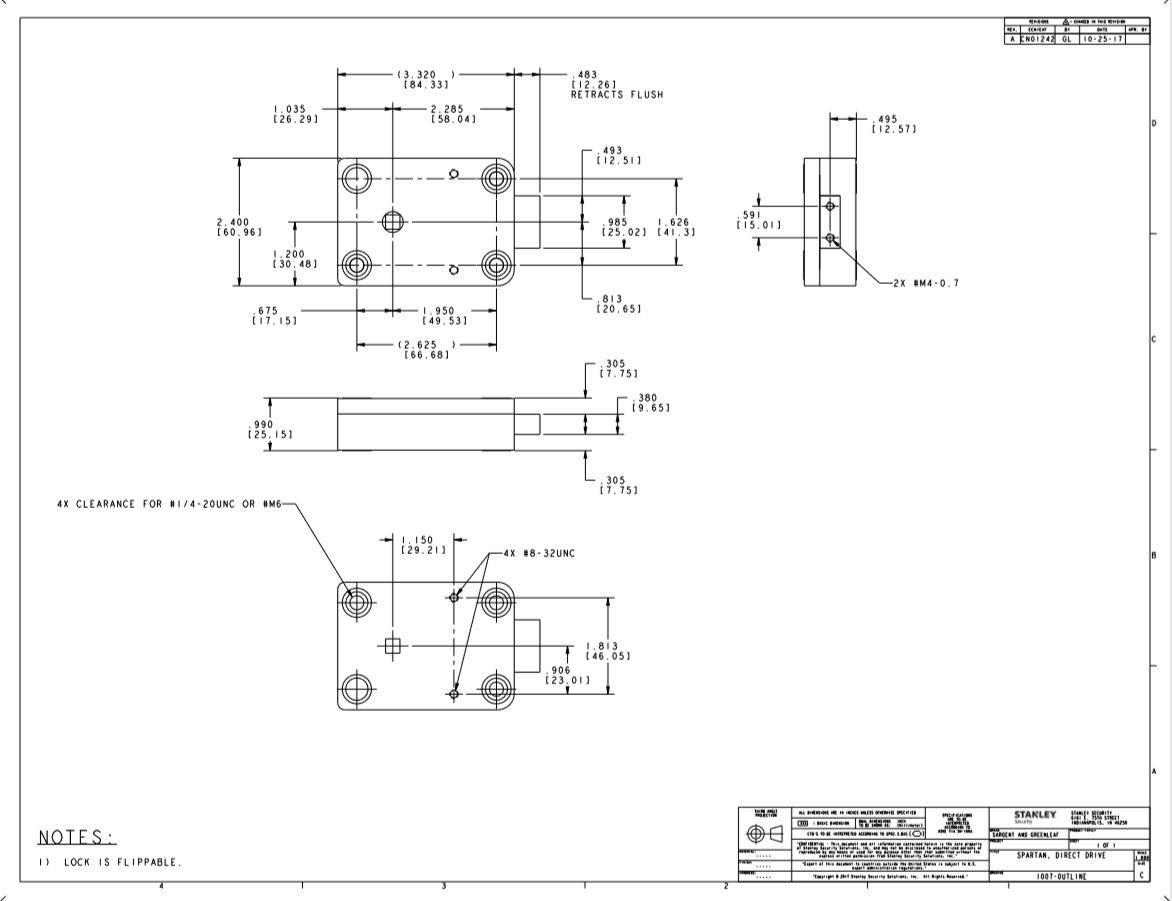 sargent \u0026 greenleaf s\u0026g model 1007 102 spartan directdrive electronic safe lock kit