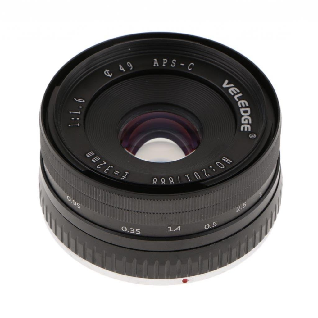 Homyl 32mm f/1.6 Large Aperture Manual Focus Lens APS-C for Sony E Mount Mirrorless Camera NEX 3 5 6 by Homyl (Image #3)