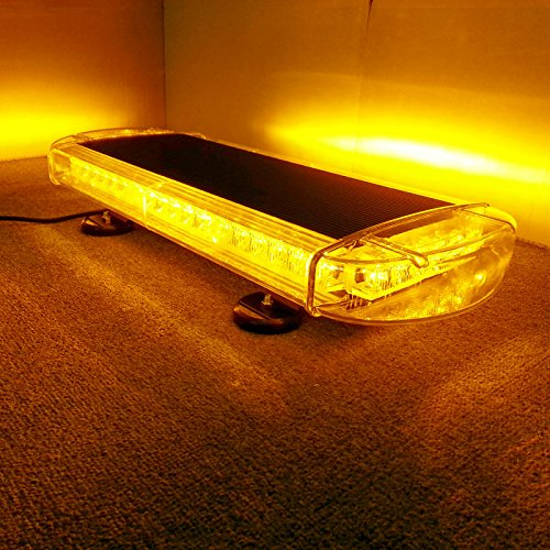 VSLED Black Aluminium Case 55cm 48 LED Emergency Recovery LightBar Wrecker Flashing LightBar Beacon Strobe Amber Light Bar
