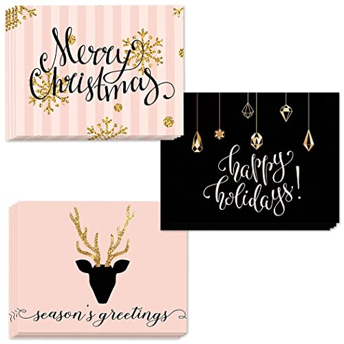 Amazon 24 seasons greetings cards 3 assorted glittery 24 seasons greetings cards 3 assorted glittery christmas designs envelopes included send festive wishes m4hsunfo