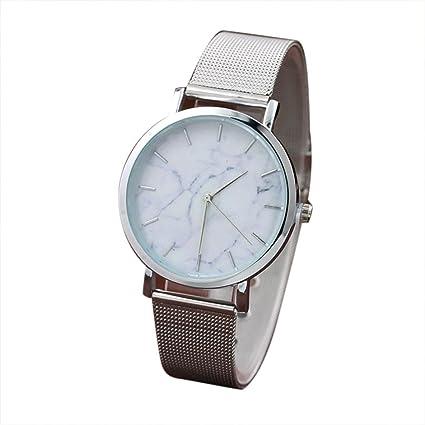 Reloj mujer plata ❤ Amlaiworld Moda Relojes niña Reloj de pulsera de acero inoxidable con