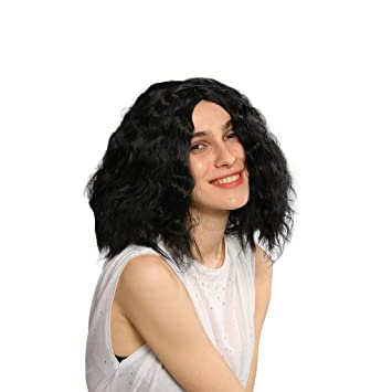 Synthetic None-lacewigs Hair Cap+high Temperature Fiber Princess Snow White Short Body Wave Synthetic Cosplay Wig For Girls Crazy Price