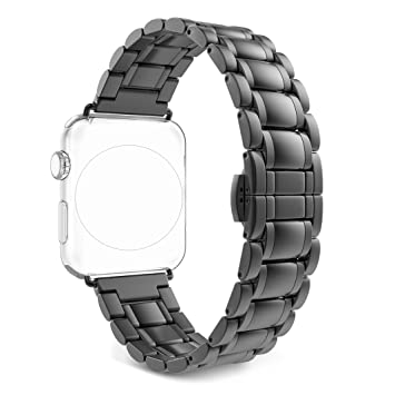 Correa para Apple Watch Series 2/1, Rosa Schleife iWatch WristBand Reemplazo de Banda Smart Watch Band de Reloj de Acero Inoxidable Metálica Pulsera ...