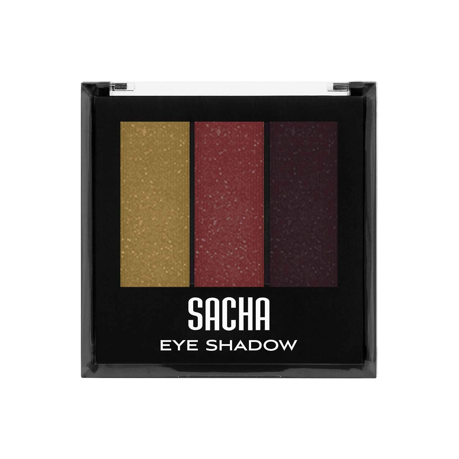 Trio Eye Shadow by Sacha Cosmetics, Best Highly Pigmented Eyeshadow Makeup Powder, Shimmer Glitter & Matte Colors, 1.2 Oz, Perfect Wendy 1