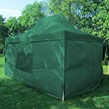 Quictent privacy 10×15 EZ Pop Up Canopy Tent Instant Folding Party Tent Pyramid-roofed Waterproof with 4 Sidewalls and Mesh Windows (Green) Review