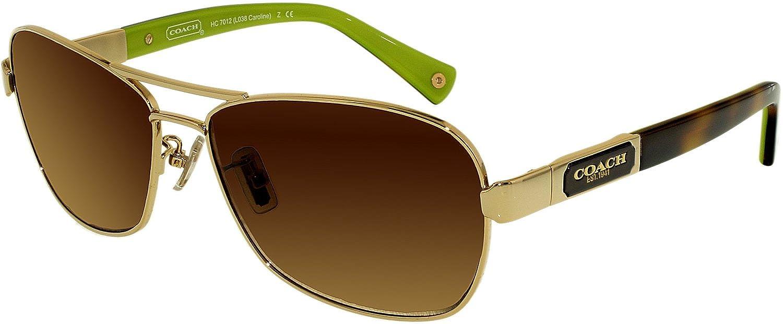 6b130c4e6f190 Amazon.com  Coach Sunglasses - Caroline   Frame  Gold Lens  Brown Gradient   Coach  Shoes