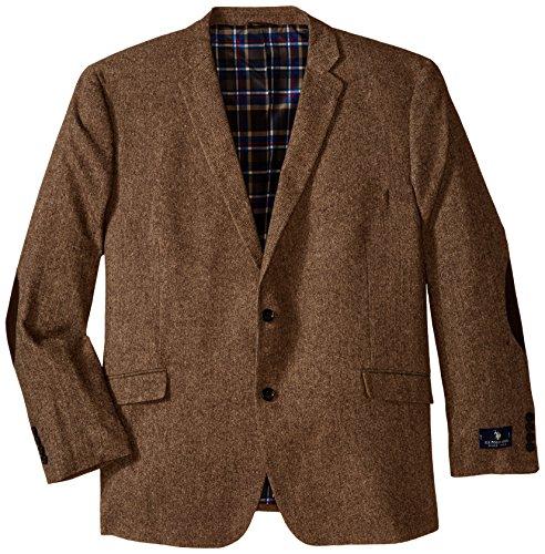 Blazer Brown Wool - U.S. Polo Assn. Men's Big-Tall Wool Donegal Sport Coat, Brown, 50 Long