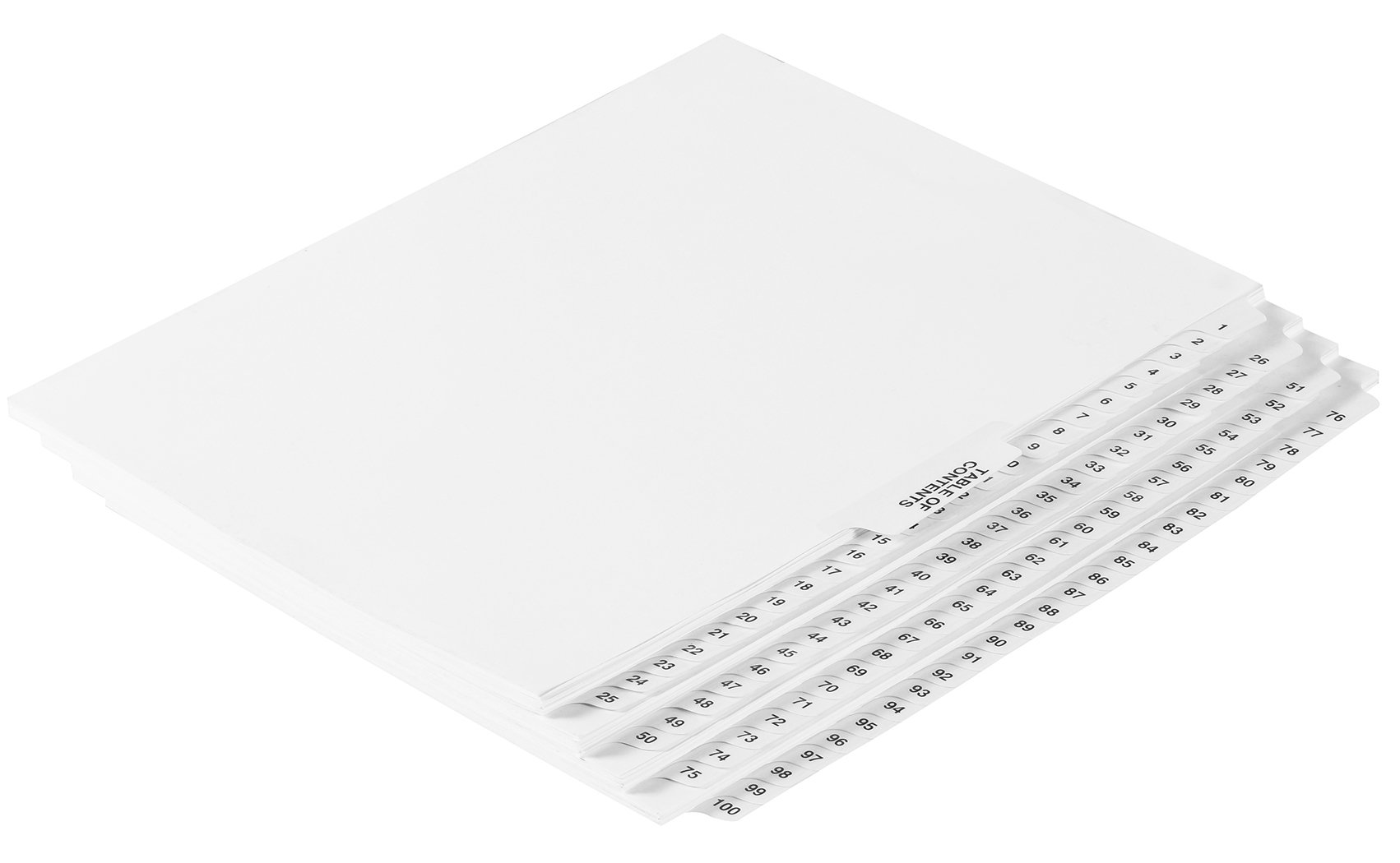 Numbered Dividers 1-100 Punched by exhibitindexes (Image #2)
