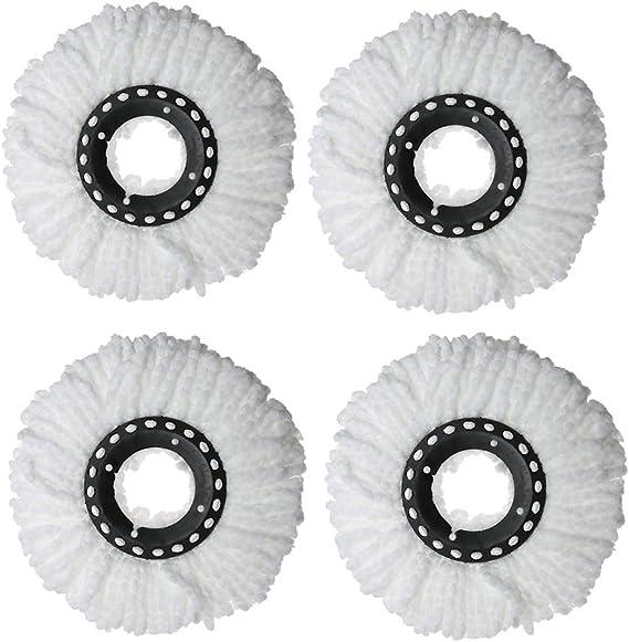 CGBOOM 4 Pack Fregona Giratoria - Reemplazo Redondo Mopa Microfibra Mopas de Recambio para Universal 360 ° Fregona Duradero Mop Heads Refills: Amazon.es: Hogar