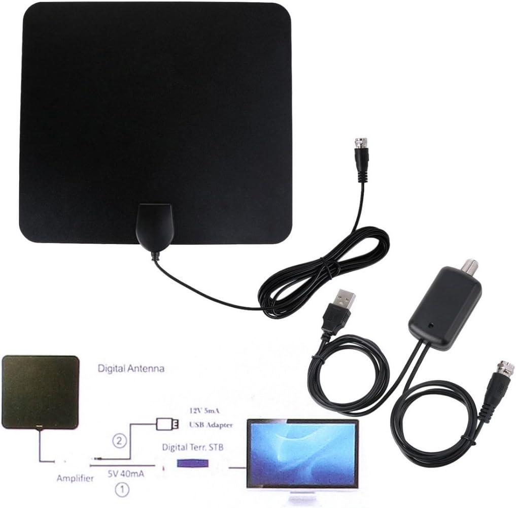 Digital High Definition Ultra Thin Flat Antenna Hdtv Tv Hd Vhf Fox Scout Style