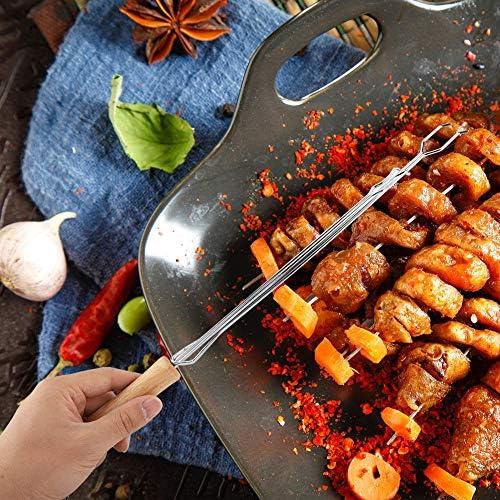 4 Pcs BBQ Fourche, Télescopique Grill Outils Grill Ustensiles Barbecue Fourchette Ensemble, Pour BBQ Pour Camping Dîners