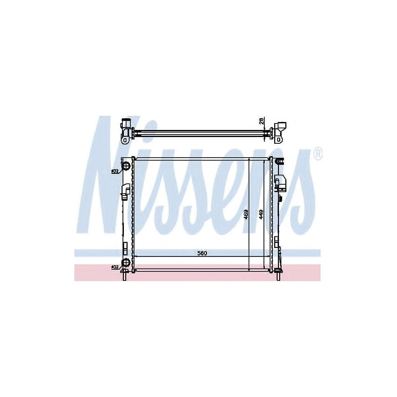 Nissens 63025A Radiateur refroidissement du moteur