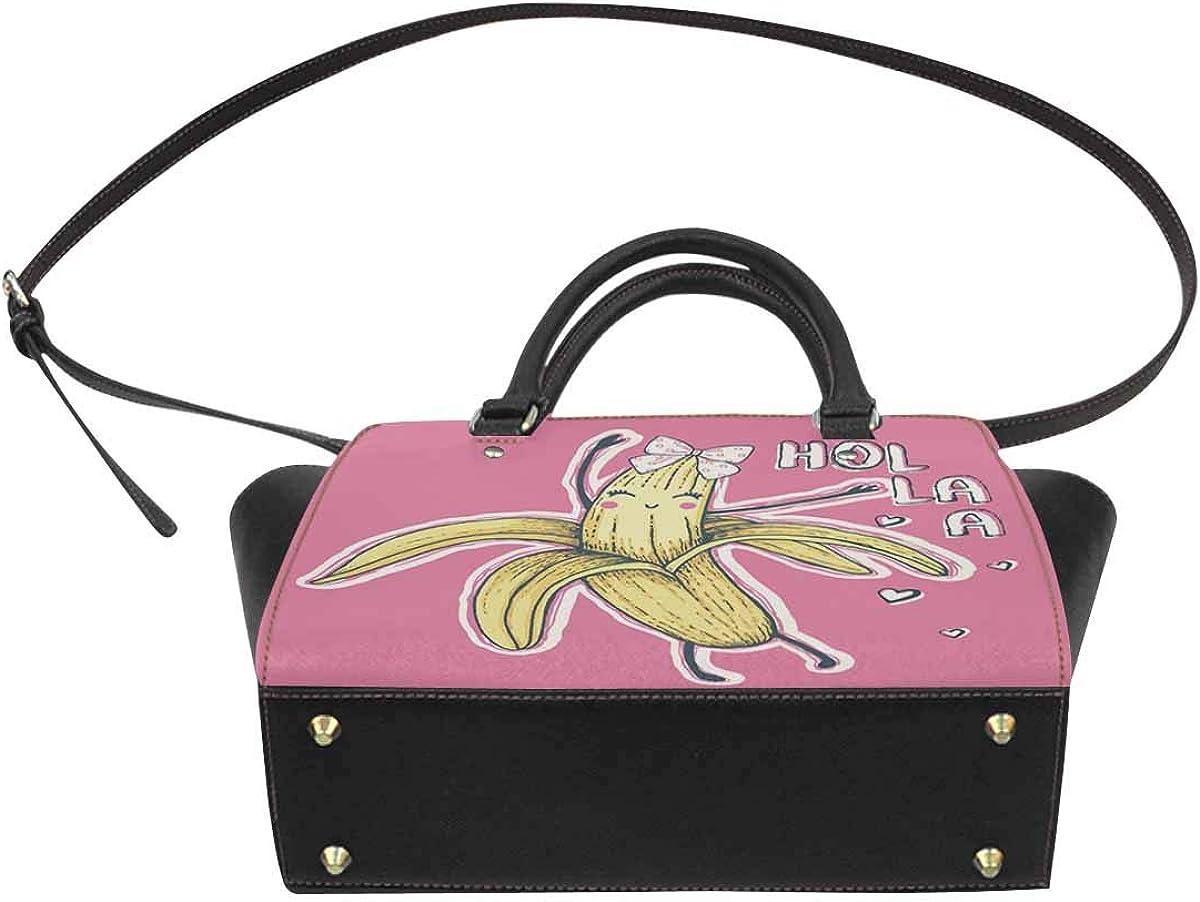 INTERESTPRINT Cartoon Banana Shoulder Bags for Women Ladies Crossbody Bag