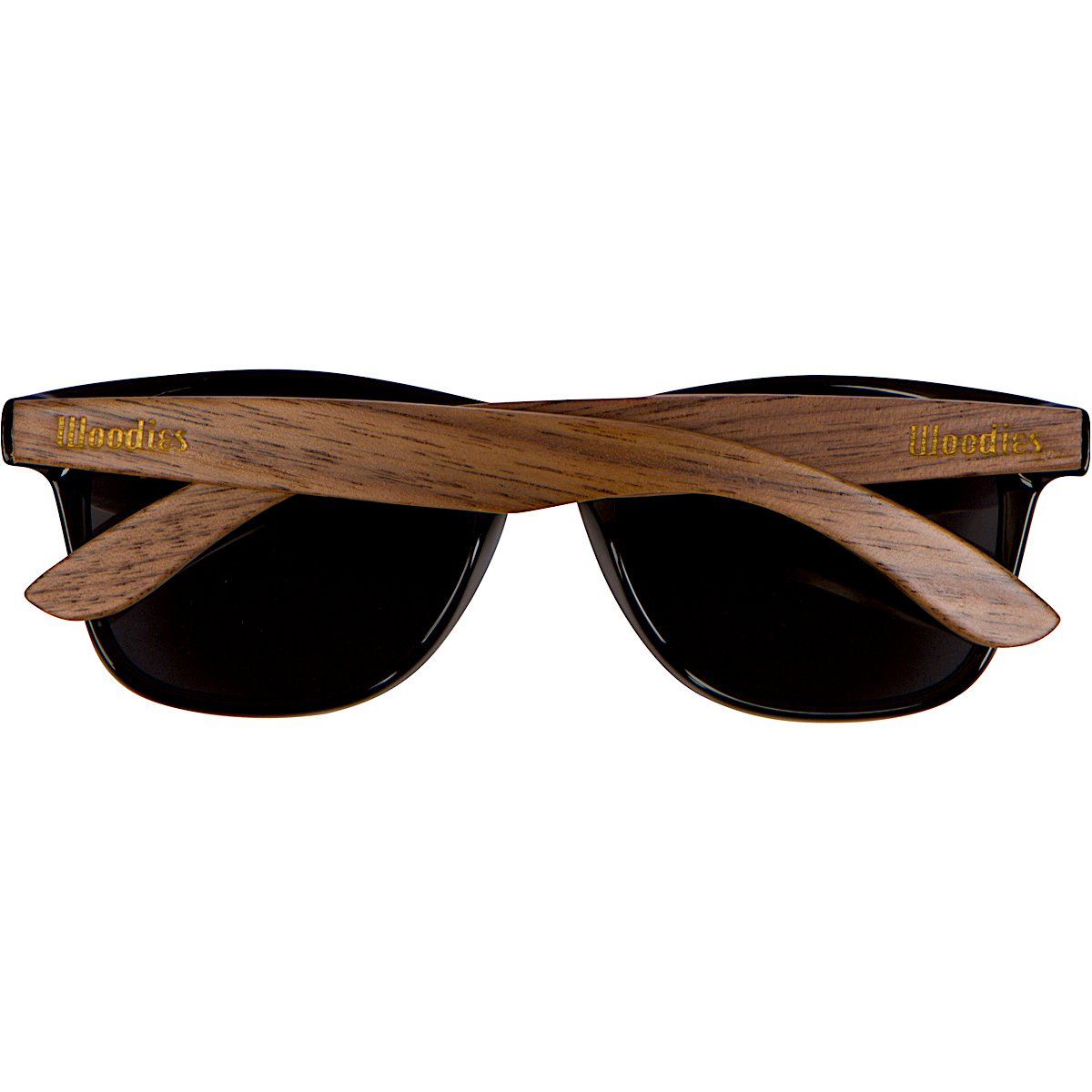 WOODIES Walnut Wood Wayfarer Sunglasses with Polarized Lens in Wood Display Box for Men or Women by Woodies (Image #4)