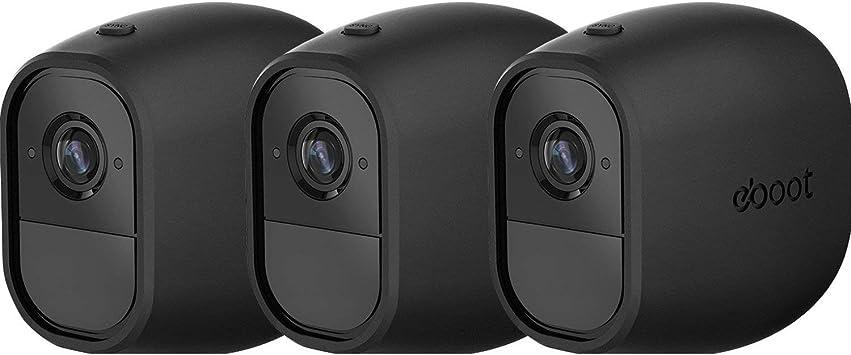 New Silicone Camera Protective Skin Case Arlo Pro Wire-free Camera 3 Pack Black