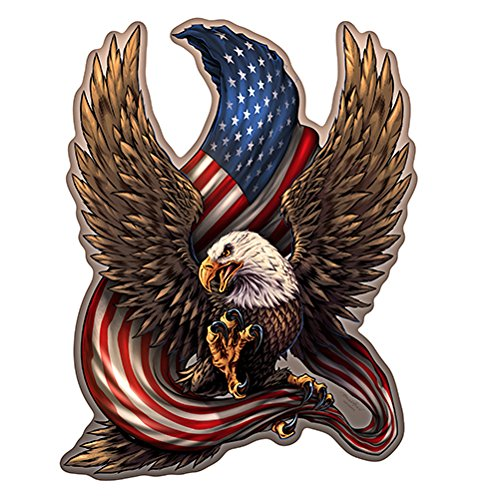 Patriotic Eagle Novelty Sign | Indoor/Outdoor | Funny Home Décor for Garages, Living Rooms, Bedroom, Offices | SignMission Personalized Gift Wall Plaque Decoration ()
