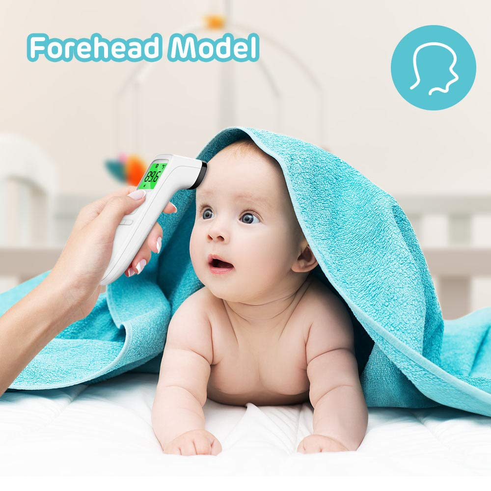 and Outdoor UseODE-222 Infants Children Odewrom Touchless Thermometer-Forehead Thermometer with Fever Alarm and Memory Function Indoor Ideal for Babies Adults
