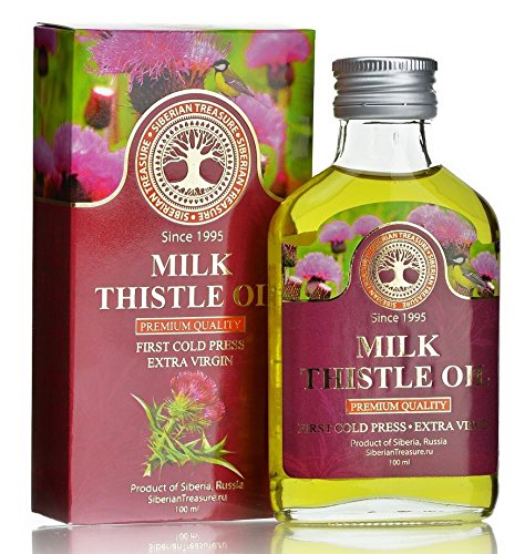Siberian Milk Thistle Oil 100 Ml, Premium Quality, Extra Virgin, First Cold Press - 3.4 Fl Oz (Best Quality Milk Thistle)