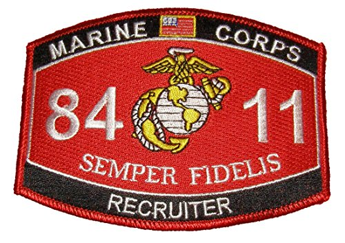 (United States Marine Corps MOS 8411 Recruiter MOS Military Patch - Veteran Owned Business)