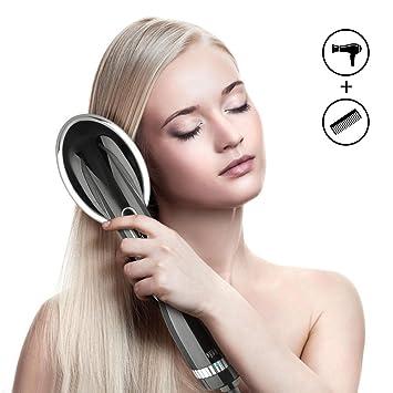 Glättbürste Ionen Haarglätter Bürste 2in1 Funktion Föhnen Und