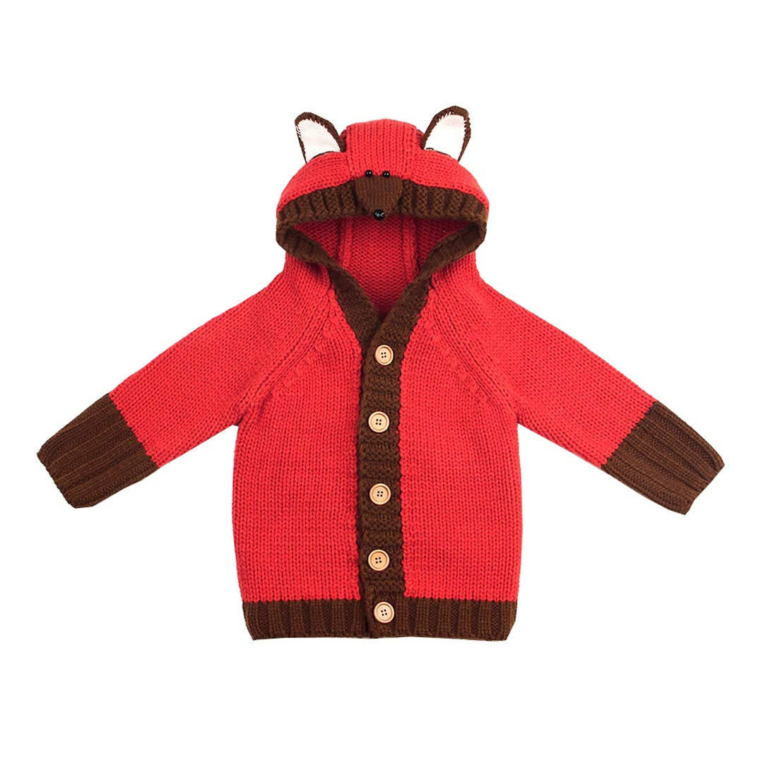 Mornyray Toddler Kids Baby Cardigan Sweater Outwear Hooded Knit Wear
