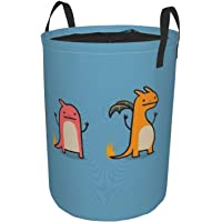 Three Little Dinosaurs Laundry Basket, Canvas Fabric Collapsible Organizer Basket for Laundry Hamper, Toy Bins, Gift…