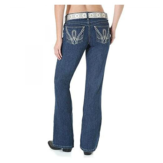 a5ed8fda Wrangler Women's Premium Patch Booty Up Technology Sits Above Hip Jean,  Midnight Blue 0x34