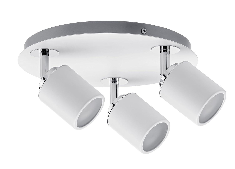 Spots Tube Ip44 Max. 3x10W GU10 Blanc/Chrome 230V Métal Paulmann Licht 66719