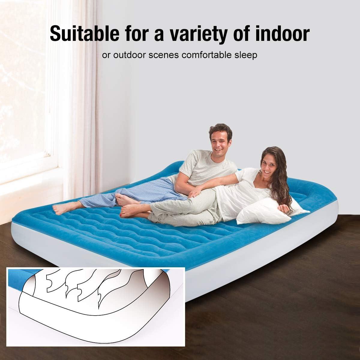 Amazon.com: Lunvon - Colchón hinchable de aire con almohada ...