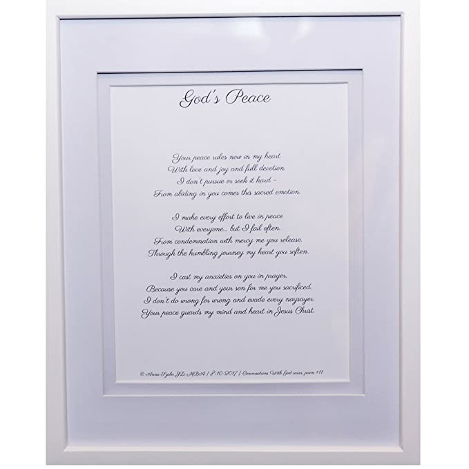 Christian Poems by Anna Szabo #PoemsFromGod God's peace framed poetry for Prayer Hallway