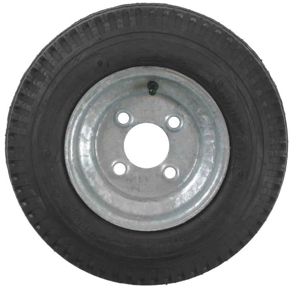 eCustomRim 2-Pack Trailer Tires On Galvanized Rims 480-8 4.80-8 4.80 x 8 Load C 4 Lug