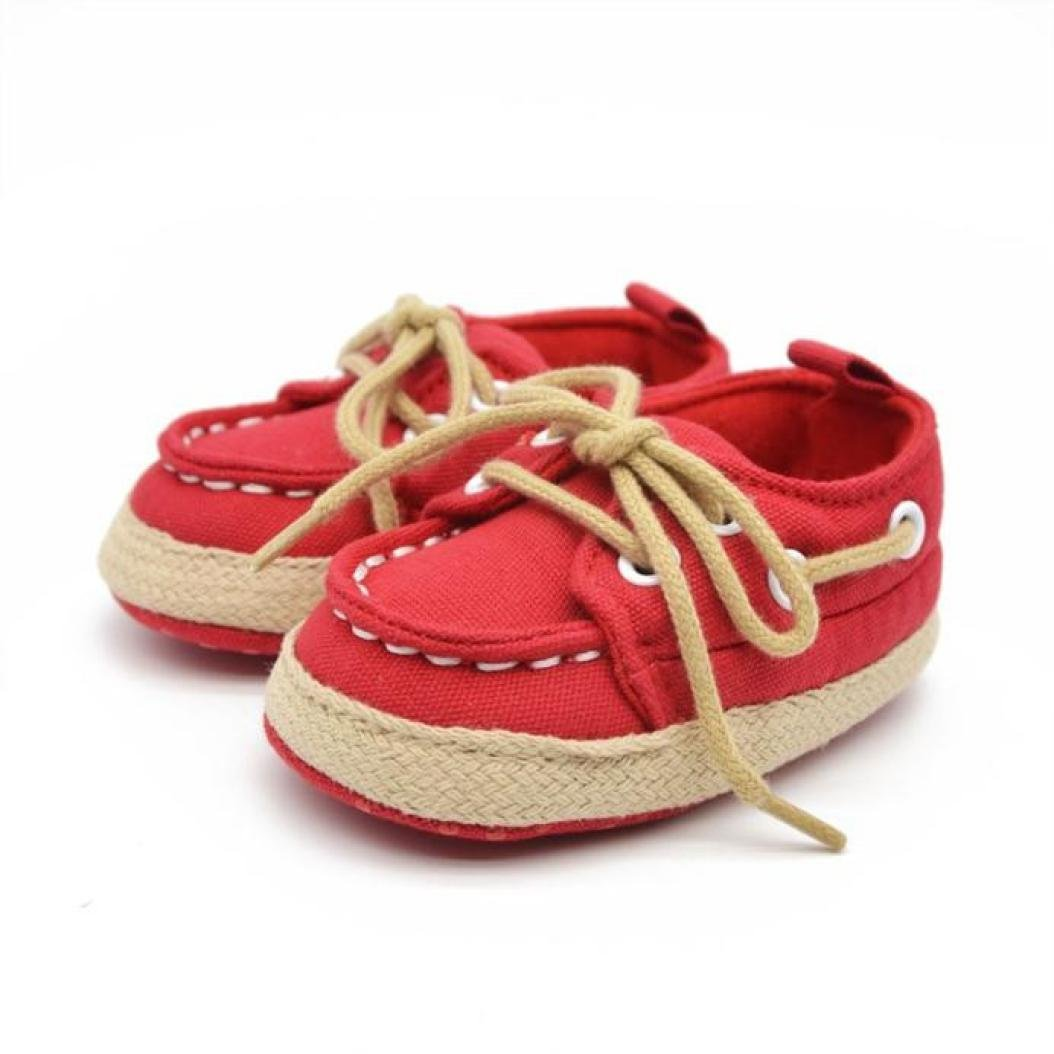 Zapatos de bebé, Amlaiworld Primeros pasos para Bebé niño niña suave zapatillas zapatillas de Bebé 0-18 Mes
