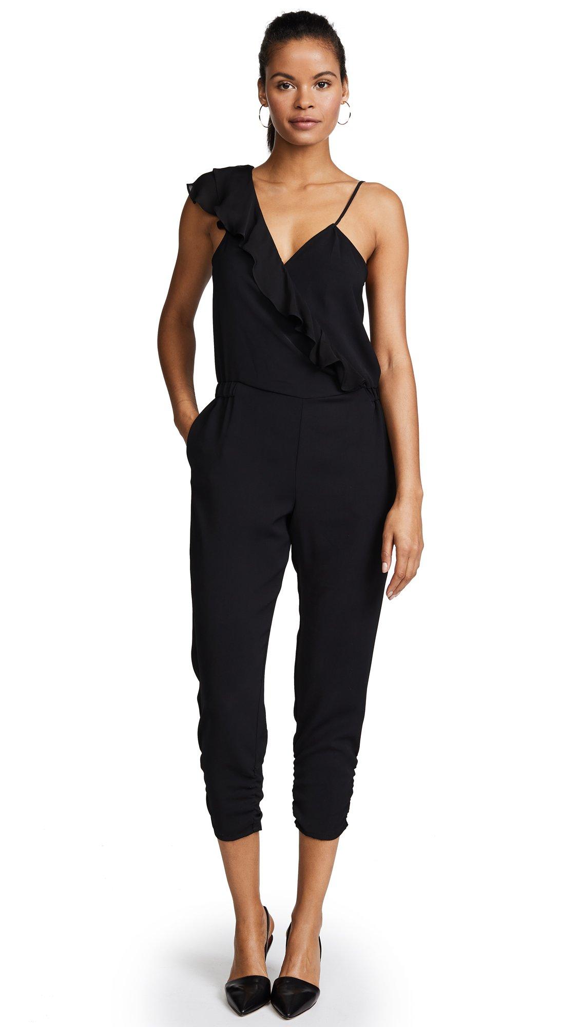 Parker Women's Addison Combo Jumpsuit, Black, 10 by Parker