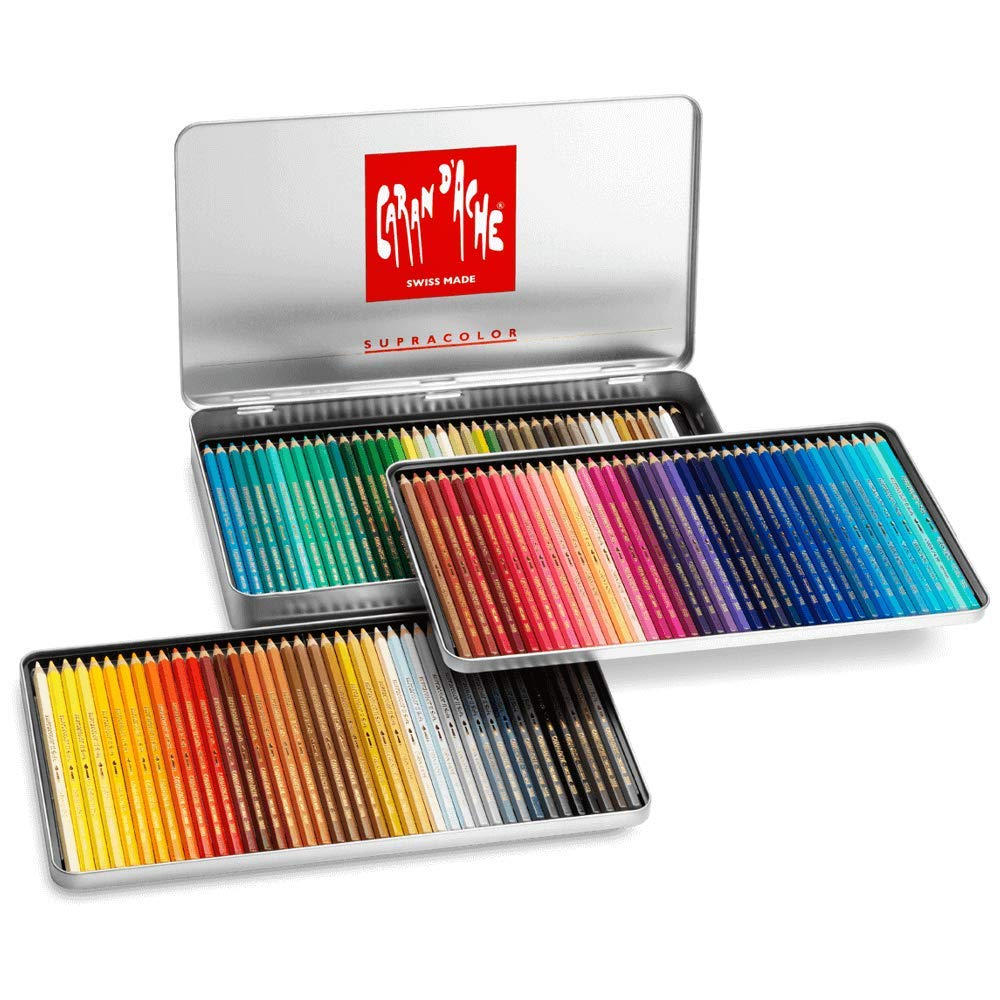 Caran D'ache Supracolor Pencil Set, 120/Tin (J3888420) by Caran d'Ache
