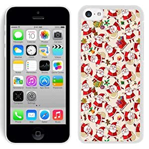 New Beautiful Custom Designed Cover Case For iPhone 5C With Santa Claus Pattern Texture Background (2) Phone Case