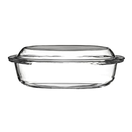 Premier Housewares 3 pc 1.5L cristal transparente bandeja ovalada ...