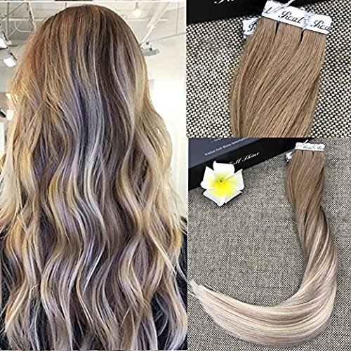 Full shine 54 warn reviewmeta full shine 14 zoll tape in kleber extensions haarfarbe 8 ash brown fading to 60 and 18 ash from full shine pmusecretfo Images
