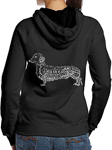 Dachshund Doxen Weiner Word Art Dog Owner Gift Mens Printed Hooded Sweatshirt Hoodie