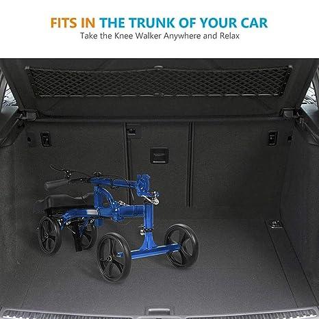 ZBYL Azul Rodilla Scooter andadores, Altura Ajustable De una ...