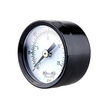 UEETEK Indicador de presión de vacío para compresor de aire Gas Oil Gas 0-300PSI