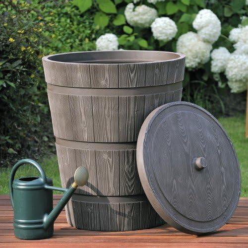 TECHNIK rustico 275L cubo de agua con depósito – al aire libre jardín riego – lluvia: Amazon.es: Jardín